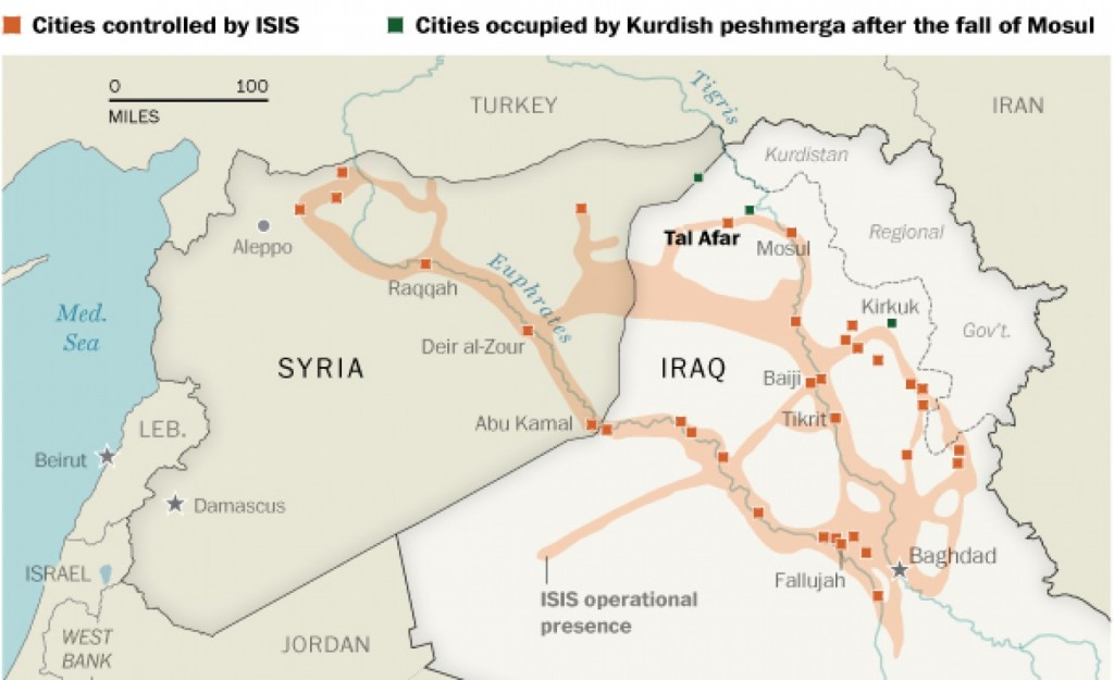 Cartina Kurdistan.Rojava Geografia Mappe